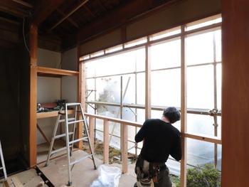新規窓設置用 まぐさ・窓台取付