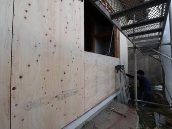 新規窓設置用 外壁側下地