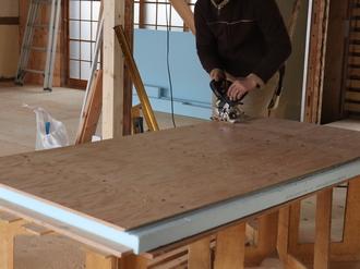 構造用合板加工