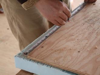 構造用合板 (ビスピッチ10cm)