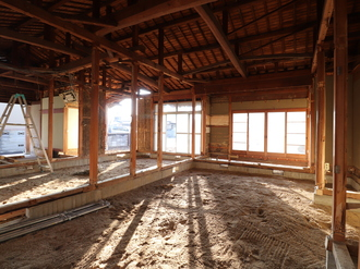 天井・壁・床の解体工事完了