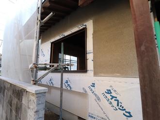 外壁 透湿防水シート施工