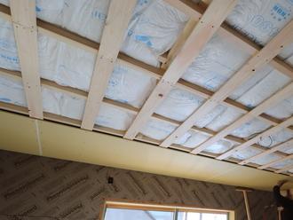 天井 石膏ボード施工